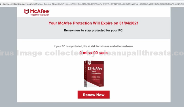 Device-protection.services pop-up