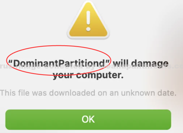 DominantPartitiond will damage your computer