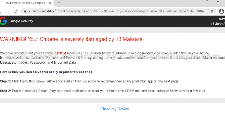 Your Chrome is severely damaged by 13 Malware